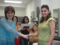 Picture 1: In Armenia a qualified hairdresser.